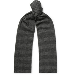 Brioni Checked Virgin Wool and Silk-Blend Scarf