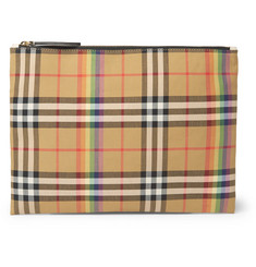 Burberry Checked Gabardine Pouch