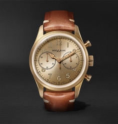 Montblanc 1858 Automatic Chronograph 42mm Bronze and Leather Watch