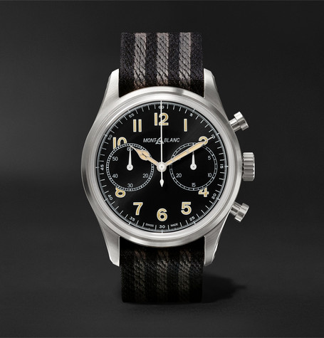 e10d00ade20 Montblanc1858 Automatic Chronograph 42mm Stainless Steel and NATO Webbing  Watch