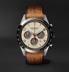 Montblanc TimeWalker Limited Edition Chronograph 43mm Stainless Steel, Ceramic and Leather Watch, Ref. No. 118