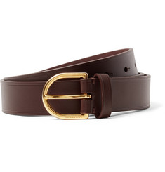 Burberry 3cm Dark-Brown Alex Leather Belt