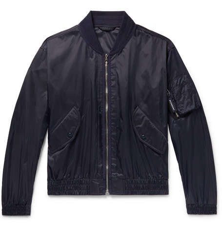 Nylon Bomber Jacket - Navy