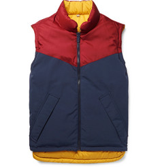 Burberry Reversible Canvas and Quilted Shell Down Gilet