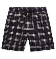 Burberry Mid-Length Checked Swim Shorts