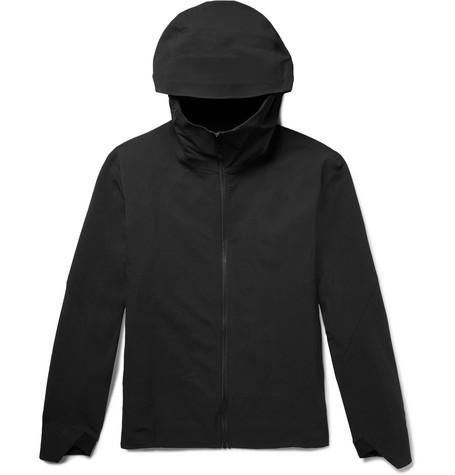 Arc'teryx Isogon Mx Burly Hooded Jacket In Black