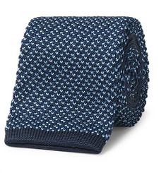 Dunhill - 6.5cm Knitted Mulberry Silk Tie