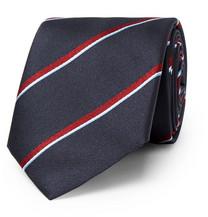 8cm Cravate En Soie Jacquard Rayé Brioni 3j4FbaEVgh