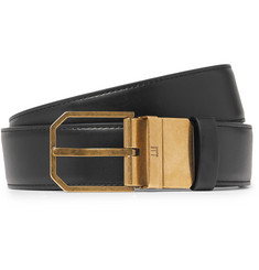 Dunhill - 3.5cm Black and Tan Reversible Leather Belt