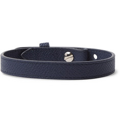 Dunhill - Cross-Grain Leather Bracelet