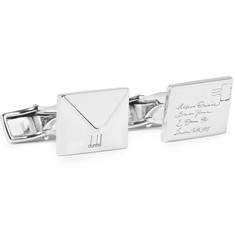Dunhill Envelope Silver-Tone Cufflinks