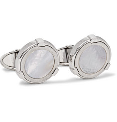 Dunhill Sterling Silver Mother-of-Pearl Cufflinks