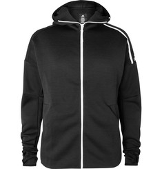 Adidas Sport Z.N.E. Fast Release Logo-Print Climalite Zip-Up Hoodie