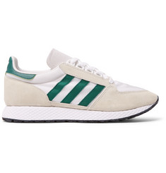 adidas Originals Forest Grove Suede and Mesh Sneakers