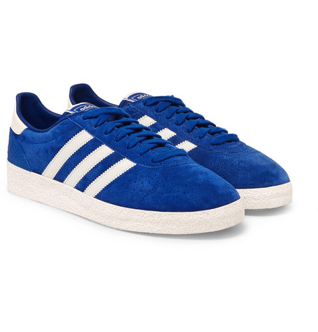 Adidas Originals MÜNchen Super Spzl Suede Sneakers In Blue ... c4261d4fe