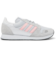 adidas Originals ZX 454 SPZL Suede, Nylon and Mesh Sneakers