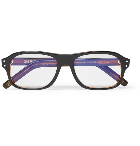 e0fc3c27f74 KINGSMAN. + CUTLER AND GROSS EGGSY S SQUARE-FRAME ACETATE OPTICAL GLASSES