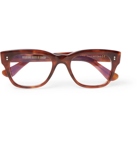 4d5763c011 Kingsman Cutler And Gross Square-Frame Tortoiseshell Acetate Optical Glasses  In Brown