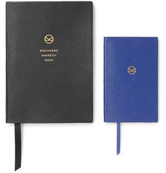 Kingsman + Smythson Set of Two Soho and Panama Cross-Grain Leather Notebooks