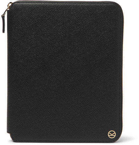 + Smythson Panama Cross-grain Leather Zip-around Portfolio Kingsman Jq55oDQ