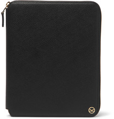 Kingsman + Smythson Panama Cross-Grain Leather Zip-Around Portfolio