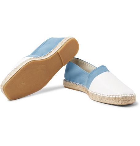 Sutton Canvas And Leather Espadrilles - BlueOrlebar Brown Hno0j2ghz