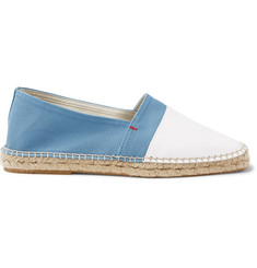 Orlebar Brown Sutton Canvas and Leather Espadrilles