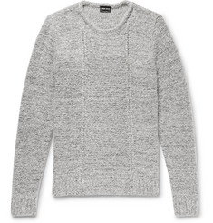 Giorgio Armani Slim-Fit Mélange Wool-Blend Sweater