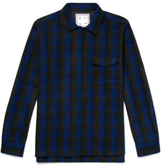 Altea Checked Virgin Wool Overshirt