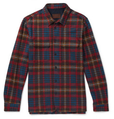 Altea Checked Woven Overshirt