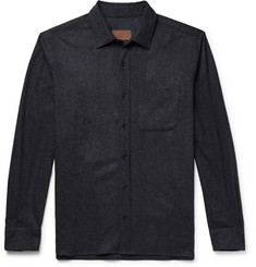 Altea Mélange Virgin Wool-Blend Shirt
