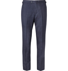 P. Johnson Midnight-Blue Slim-Fit Wool Suit Trousers