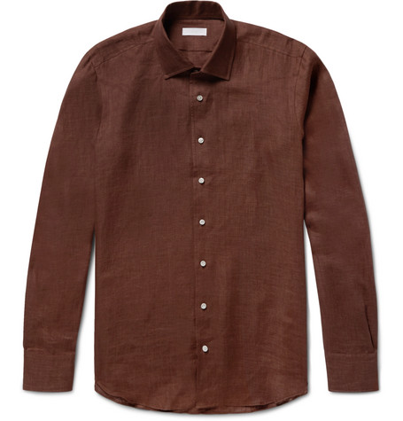 P. JOHNSON SLUB LINEN SHIRT