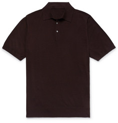 P. Johnson Slim-Fit Super 160s Merino Wool Polo Shirt