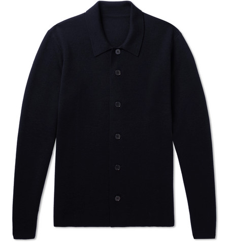 P. JOHNSON MERINO WOOL-BLEND CARDIGAN