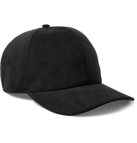 Neil Barrett Faux Suede Baseball Cap - Black - One Siz