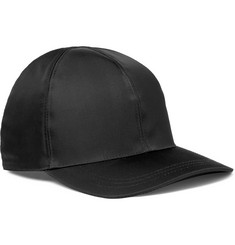 Prada Leather-Trimmed Nylon Baseball Cap