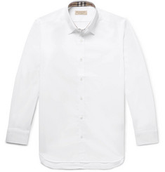 Burberry - Slim-Fit Stretch-Cotton Poplin Shirt