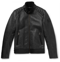 Belstaff - Westlake Leather-Trimmed Shearling Jacket