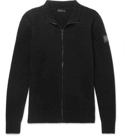 BELSTAFF Renhold Slim-Fit Wool and Cashmere-Blend Zip-Up Cardigan
