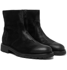 Belstaff - Attwell Burnished-Suede Boots