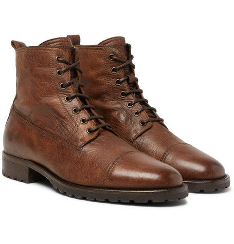 Alperton 2.0 Burnished Leather Boots by Belstaff