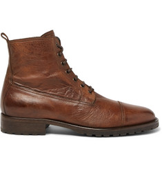 Belstaff Alperton 2.0 Burnished-Leather Boots