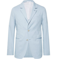 Caruso Sky-Blue Slim-Fit Unstructured Stretch-Cotton Twill Suit Jacket