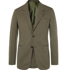 Caruso Olive Slim-Fit Stretch-Cotton Twill Suit Jacket
