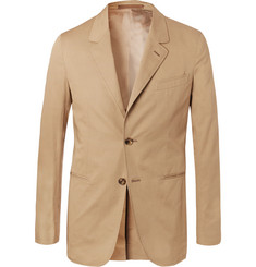 Caruso - Sand Slim-Fit Stretch-Cotton Twill Suit Jacket