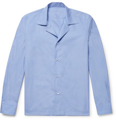 Caruso Slim-Fit Camp-Collar End-On-End Cotton Shirt
