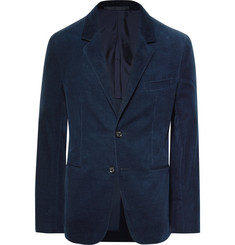Caruso Navy Slim-Fit Unstructured Stretch Cotton and Cashmere-Blend Corduroy Blazer