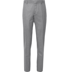 Caruso - Grey Slim-Fit Mélange Wool Trousers