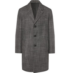 Caruso - Prince of Wales Checked Wool, Silk and Cashmere-Blend Coat
